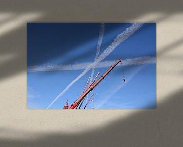 Lijnenspel in de lucht van Ed Cornelissen