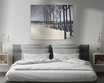 Winterlandschap door Pieter Ringoot. van Galerie Ringoot
