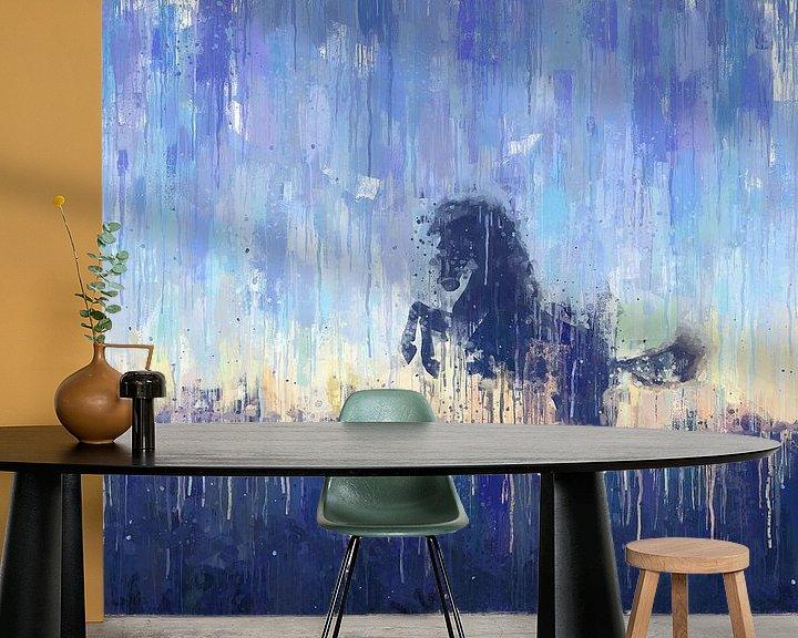 Sfeerimpressie behang: Geschilderd Paard van Arjen Roos