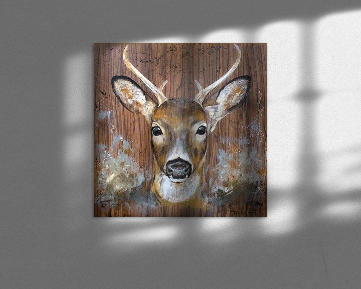 Sfeerimpressie: Curious deer van Atelier Paint-Ing