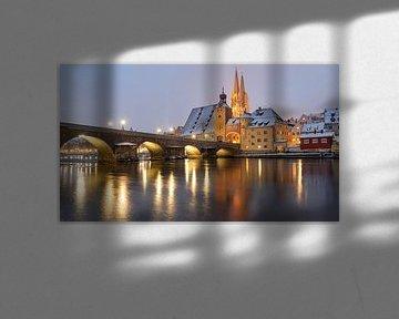 Regensburg in de winter van Rainer Pickhard