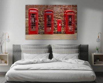 Rode Telefooncellen Engeland van Gert Hilbink