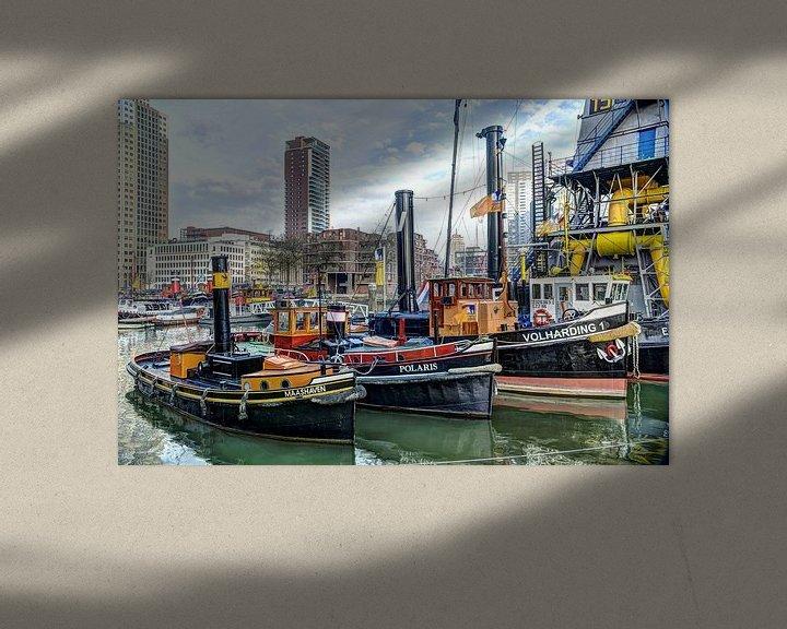 Sfeerimpressie: sleepboten, Rotterdam van Fotografie Arthur van Leeuwen