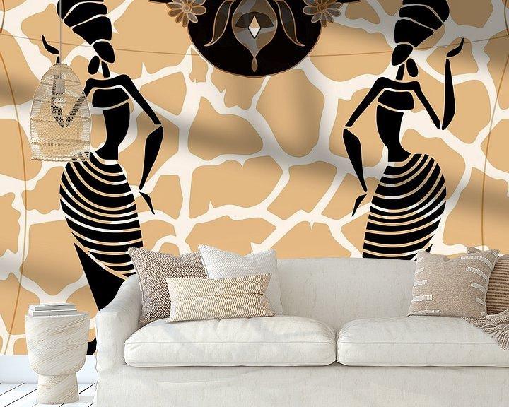 Sfeerimpressie behang: Bolojo Dance van Rudy en Gisela Schlechter