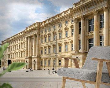 Gevel van het nieuw gebouwde Humboldt Forum in Berlijn van Heiko Kueverling
