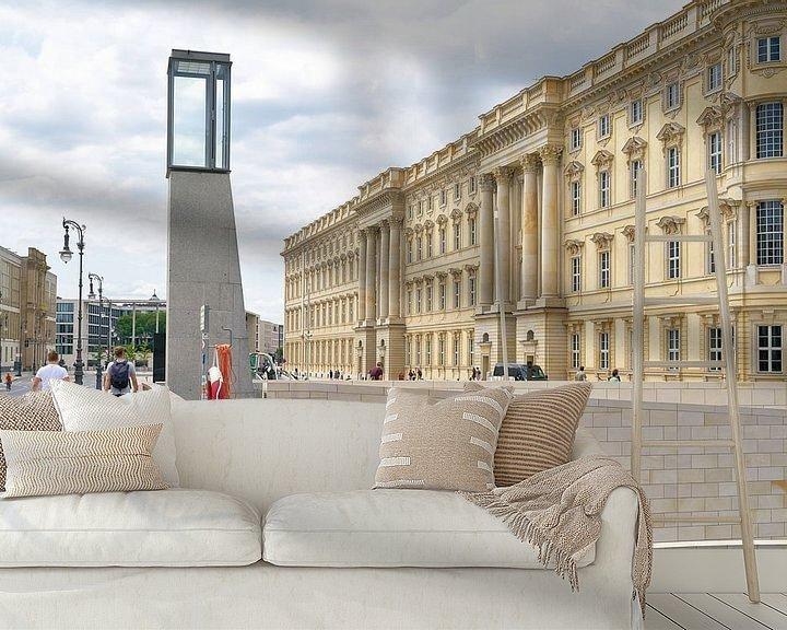 Sfeerimpressie behang: Nieuwbouw van het Humboldt Forum in Berlijn, gebaseerd op een historisch model, gezien vanaf de Rath van Heiko Kueverling