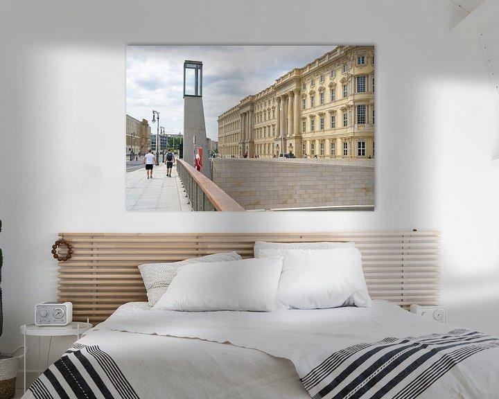 Sfeerimpressie: Nieuwbouw van het Humboldt Forum in Berlijn, gebaseerd op een historisch model, gezien vanaf de Rath van Heiko Kueverling
