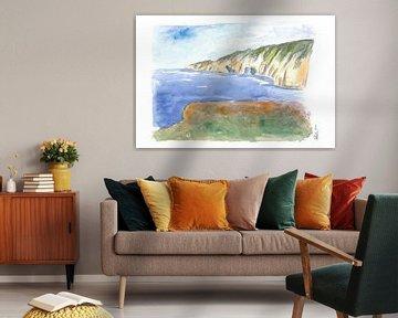 Slieve League Felsen und Küstenlinie in Donegal Irland von Markus Bleichner