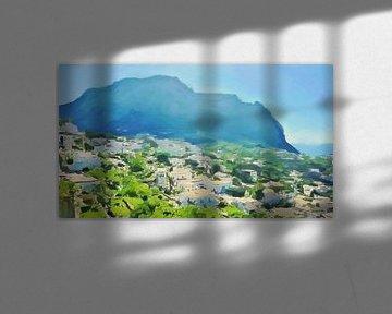 Italië - De Zon boven Capri - Schilderij