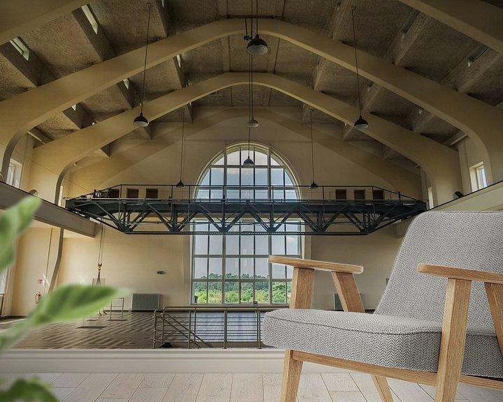 Sfeerimpressie behang: Overzicht van binnen in Rado Kootwijk van Martijn Tilroe