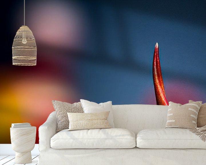 Sfeerimpressie behang: een stukje tulp van Dick Jeukens
