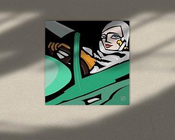 Tamara's bijna-zelf portret met een andere Bugatti van Marina Rosemann