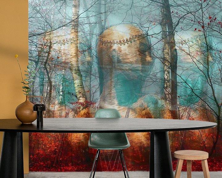 Sfeerimpressie behang: Geesten van het bos van Gabi Hampe