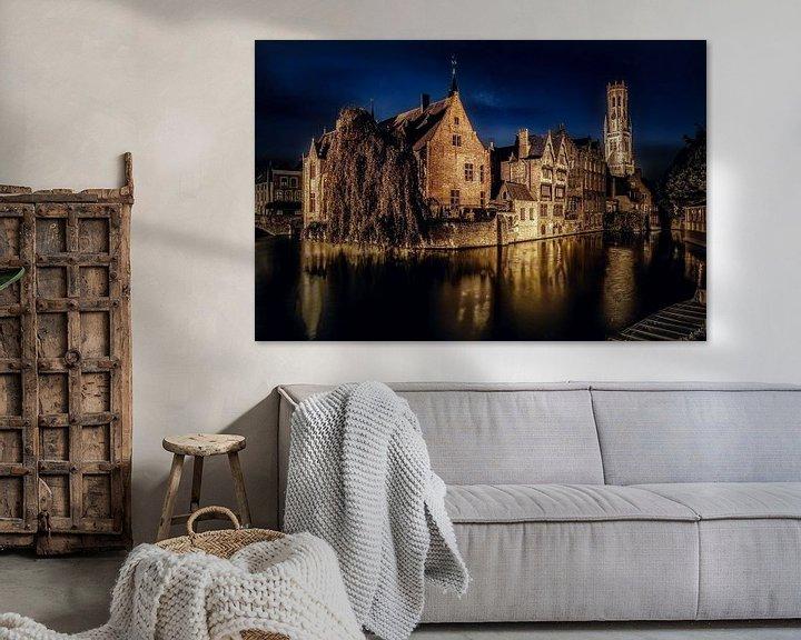Sfeerimpressie: Brugge by night van Jim De Sitter