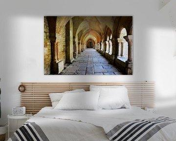 Frankreich Abtei von Fontenay von Blond Beeld
