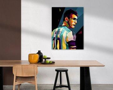 Messi in wpap popart von miru arts