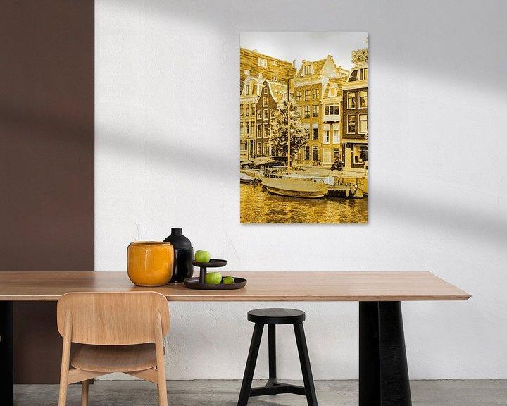 Sfeerimpressie: Binnenstad van Amsterdam Nederland Goud van Hendrik-Jan Kornelis