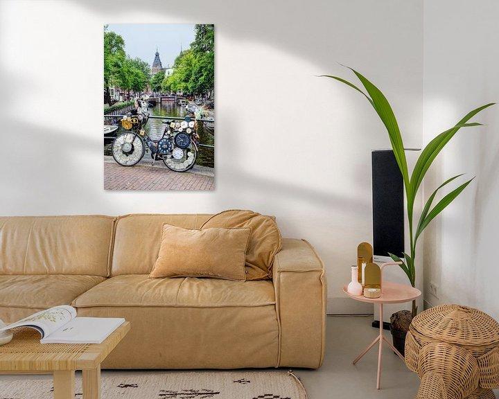 Sfeerimpressie: Binnenstad van Amsterdam Nederland van Hendrik-Jan Kornelis
