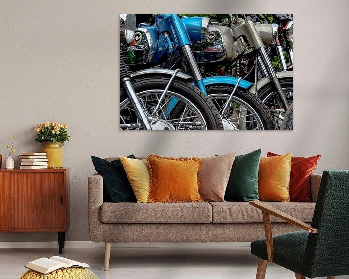 Sfeerimpressie: Oldtimer Zündapp brommers (kleur) van 2BHAPPY4EVER.com photography & digital art