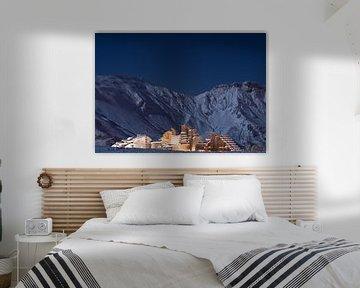 Avoriaz - wintersport dorp in de Alpen van Arie-Jan Eelman