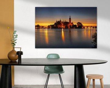 Palais de Schwerin au coucher du soleil