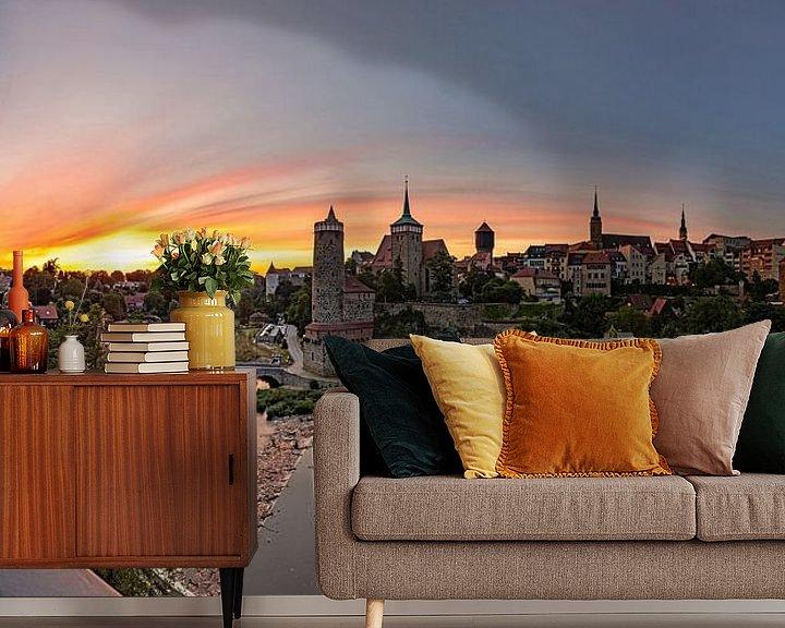 Impression: Bautzen - coucher de soleil sur la vieille ville historique sur Frank Herrmann