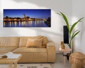 Panorama de la ligne d'horizon de Magdebourg à l'heure bleue sur Frank Herrmann