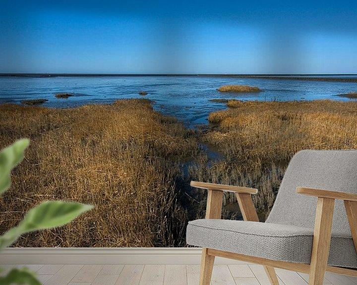 Sfeerimpressie behang: Kwelder in de Waddenzee 2 van Bo Scheeringa Photography