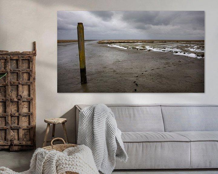 Sfeerimpressie: Het haventje van Noordpolderzijl in de winter van Bo Scheeringa Photography