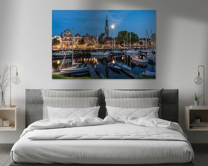Beispiel: Der Abend ist im malerischen Veere eingebrochen, der Mond geht auf von Jeroen de Jongh