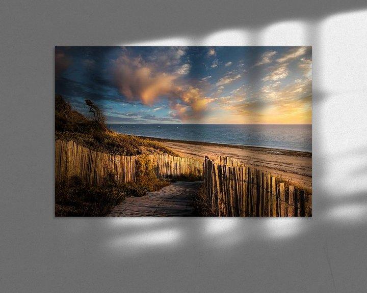 Sfeerimpressie: Zonsondergang op strand van Ile de Ré van Peschen Photography