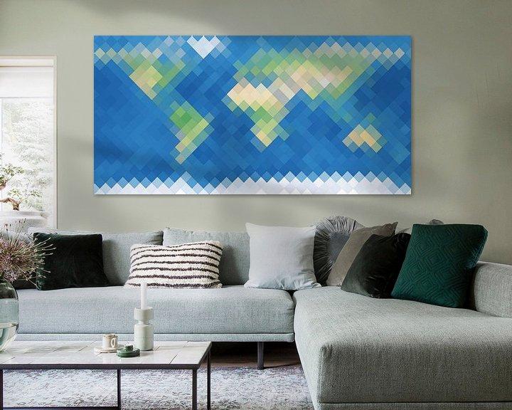 Sfeerimpressie: De Ruitenaardse Wereldkaart van Frans Blok