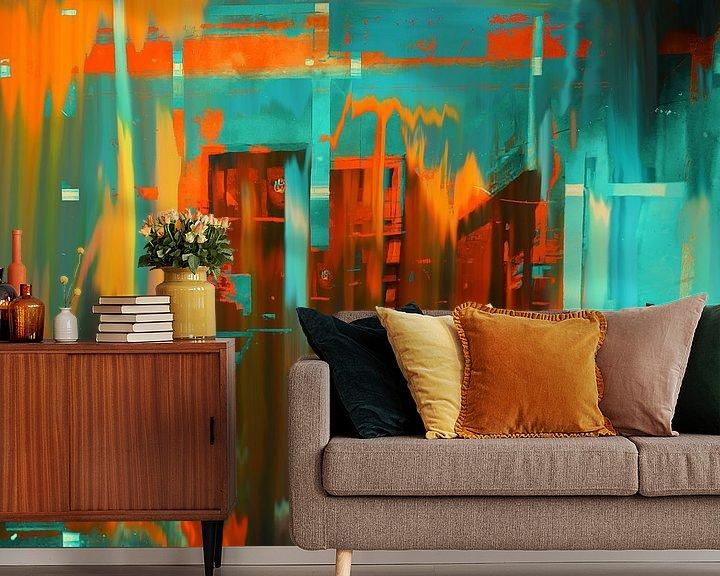 Sfeerimpressie behang: Orange city van Gabi Hampe