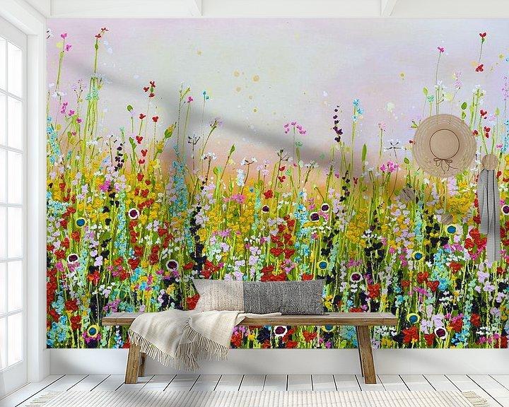 Beispiel fototapete: Blumenfeld von Bianca ter Riet