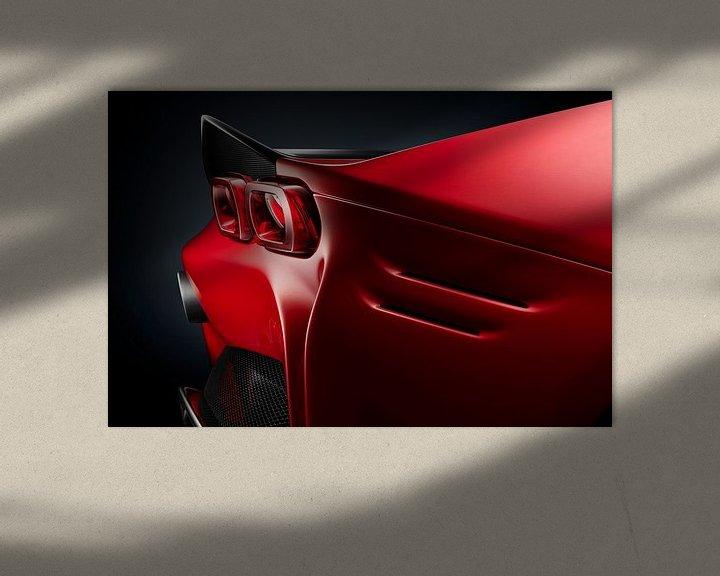 Sfeerimpressie: Ferrari SF90 Stradale achterlicht van Thomas Boudewijn