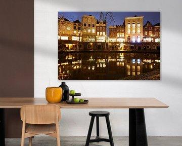 Oudegracht in Utrecht tussen de Bakkerbrug en de Jansbrug von Donker Utrecht