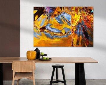 Frost Flowers In Orange van Gerrit Zomerman