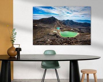 Emerald Lakes in Tongariro National Park van Candy Rothkegel / Bonbonfarben