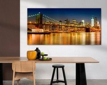 Night-Skyline NEW YORK CITY von Melanie Viola