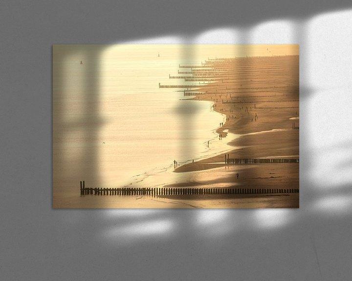 Sfeerimpressie: Kustlijn Zoutelande in zomers licht van Thom Brouwer