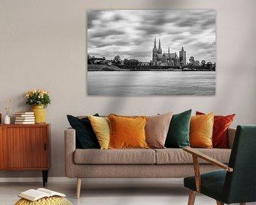 Cuijk - Stadtbild von der Maas aus von Henk Verheyen