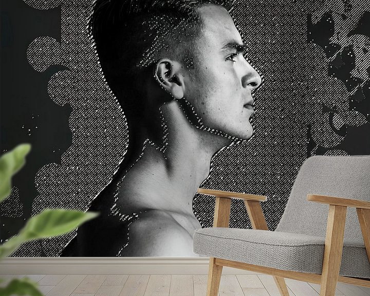 Sfeerimpressie behang: Boy facing the light II van Affect Fotografie