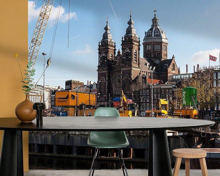 Sfeerimpressie behang: Amsterdam van Brian Morgan