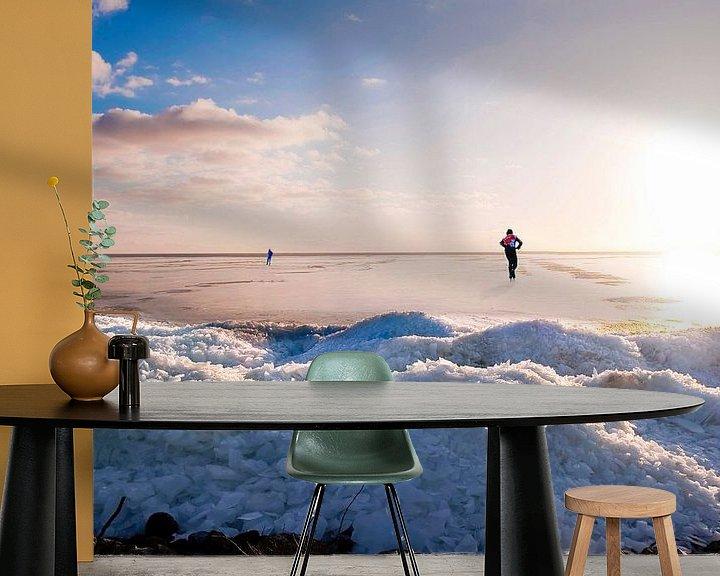 Sfeerimpressie behang: Skating on a Lake with ice hills van Brian Morgan