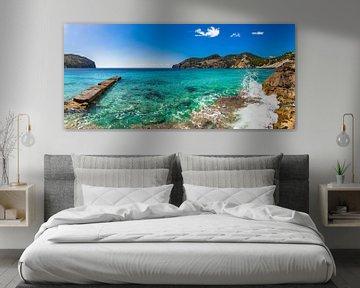 Prachtig zee landschap in Camp de Mar op Mallorca, Spanje eiland Middellandse Zee van Alex Winter