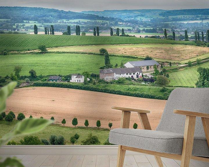 Sfeerimpressie behang: Limburgs landschap van Mark Bolijn