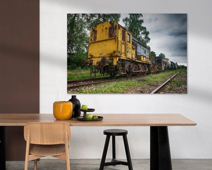 Beispiel: Alte Lokomotive von Mark Bolijn