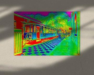 Tramremise in Nederlands Openluchtmuseum in Arnhem