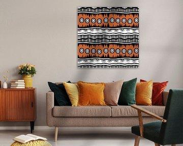 Navajo-Muster Azteke Abstrakt 7 von Rudy en Gisela Schlechter