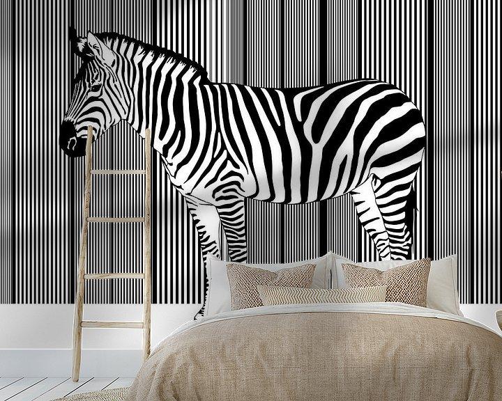 Beispiel fototapete: Zebra Barcode von Monika Jüngling
